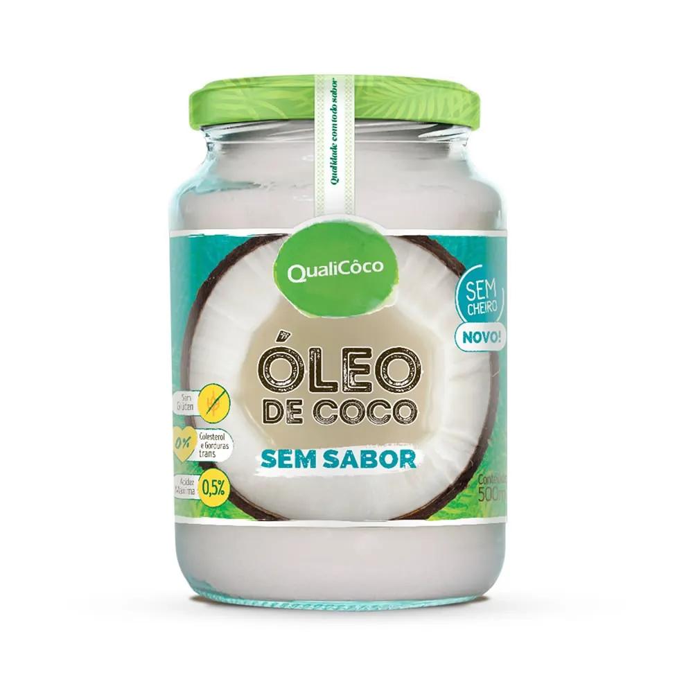 Óleo de Coco sem sabor 500ml - Qualicôco