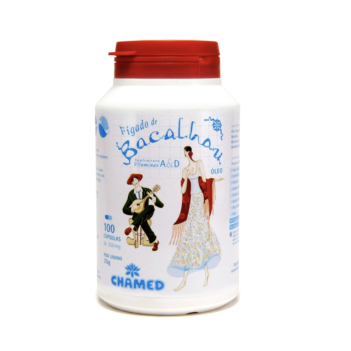 Óleo de Fígado de Bacalhau 250mg 100 Cápsulas - Chamel