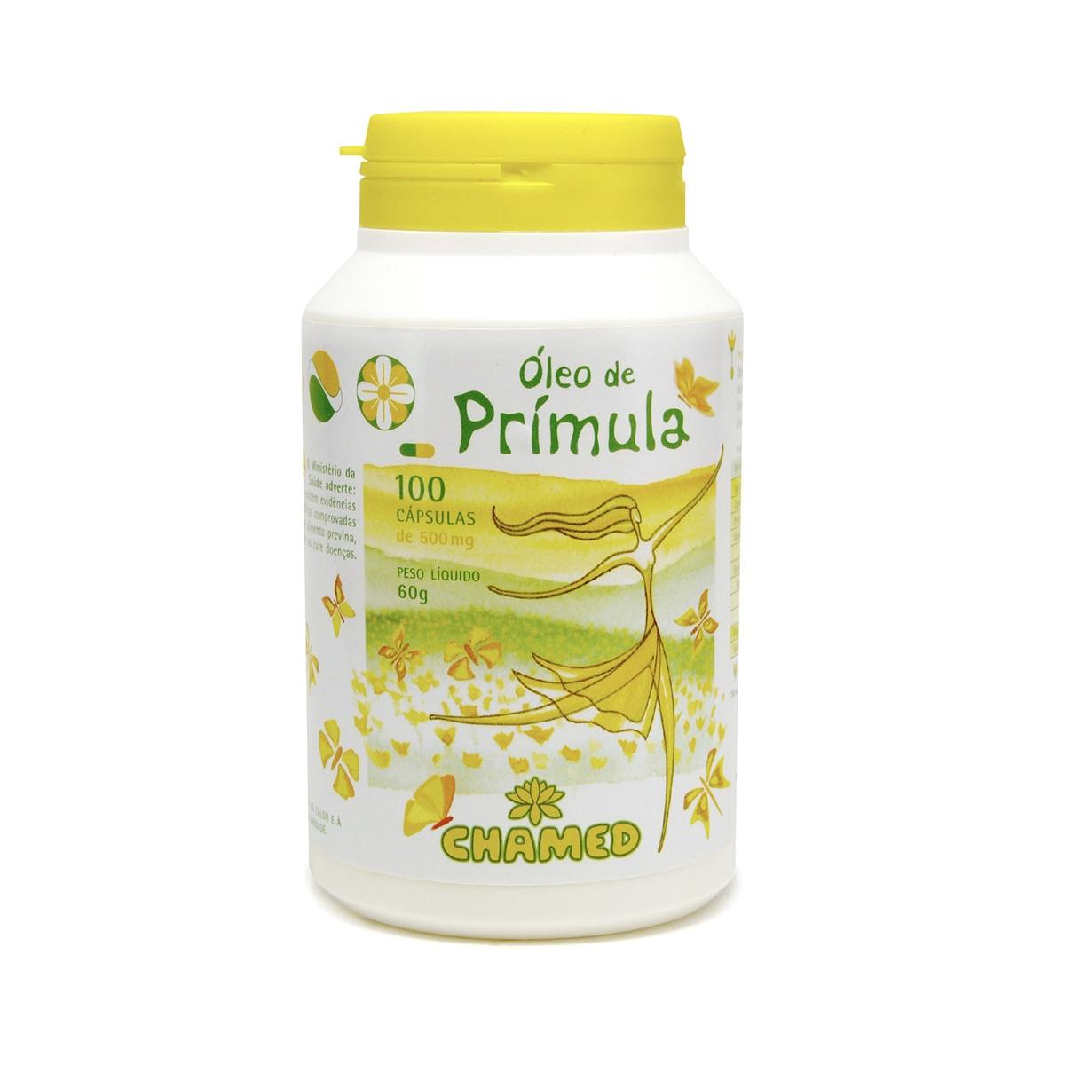 Óleo de Prímula 500mg 100 Cápsulas - Chamel