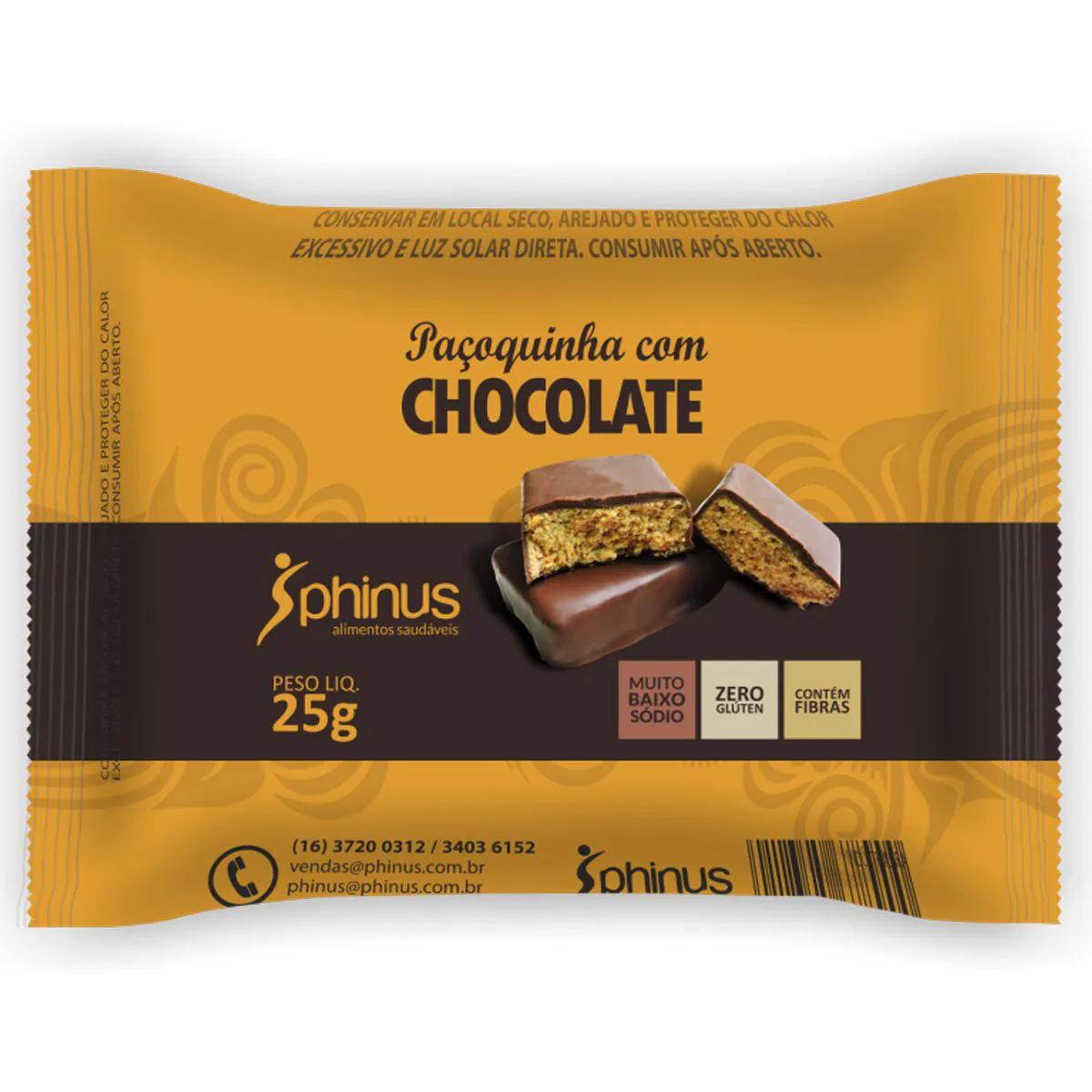 Paçoquinha com Chocolate Zero 25g - Phinus