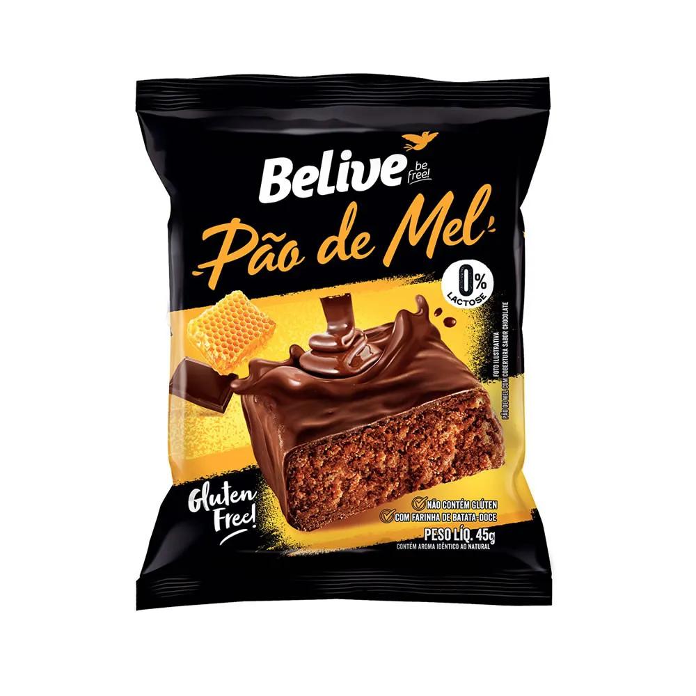 Pão De Mel Sem Glúten 45g  - Belive