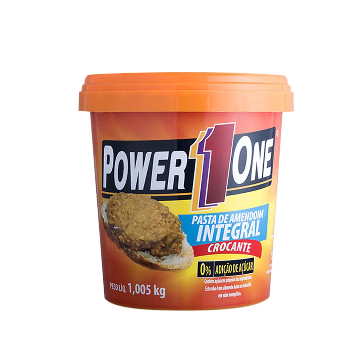 Pasta Amendoim Integral Zero Crocante 1,005kg - Power1One