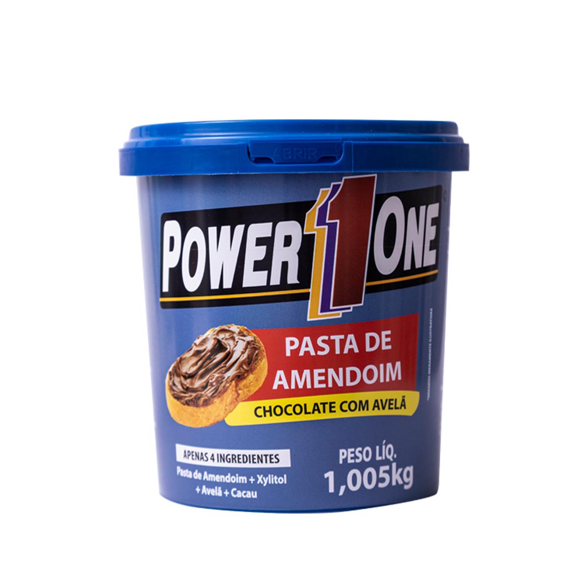 Pasta Amendoim Sabor Chocolate com Avelã 1,005kg - Power1One