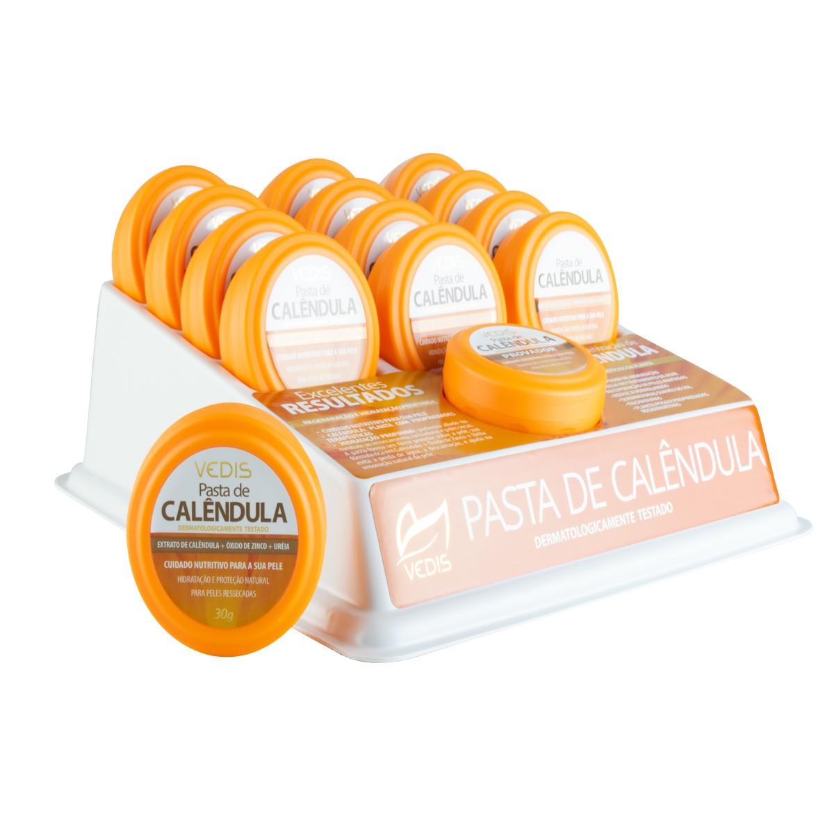 Pasta Calêndula com Provador Display com 12 un. de 30g - Vedis