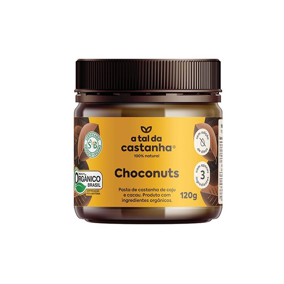 Pasta de Castanha de Caju com Cacau Choconuts Orgânico 120g - A Tal da Castanha