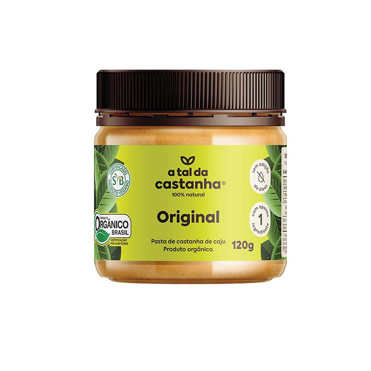 Pasta de Castanha de Caju Original Orgânico 120g - A Tal da Castanha