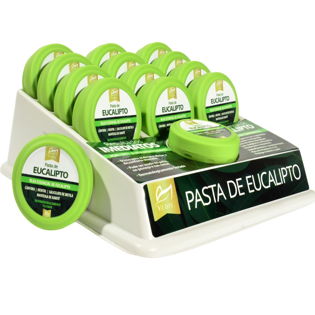 Pasta de Eucalipto com Provador Display com 12 un. de 30g - Vedis