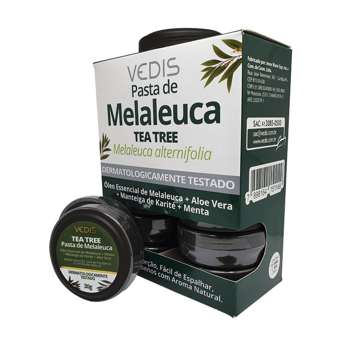 Pasta de Melaleuca para Feridas com Provador Display com 12 un. de 30g - Vedis