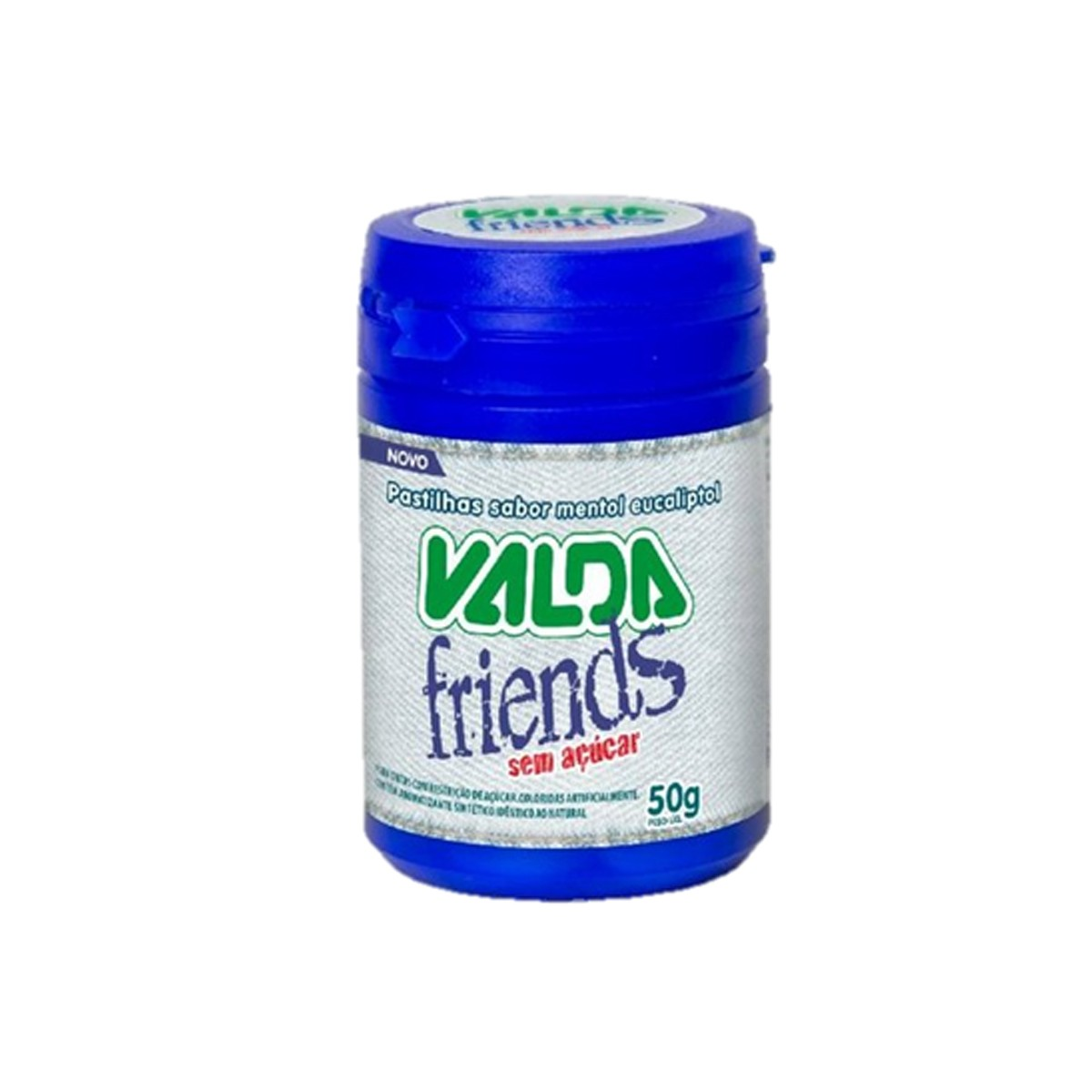 Pastilhas sabor Mentol Zero Friends de 50g - Valda