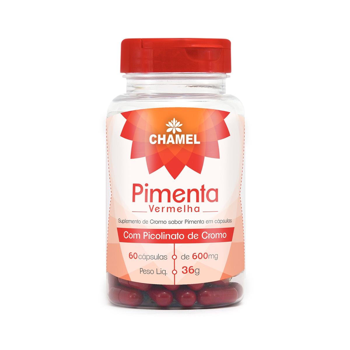 Pimenta Vermelha 600mg 60 Cápsulas - Chamel