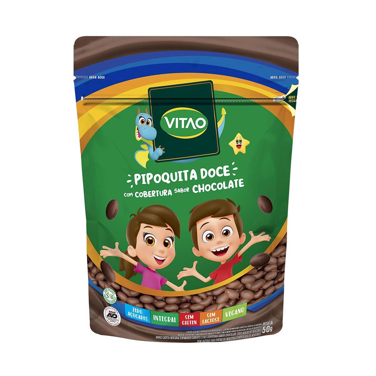 Pipoquita Integral Doce com Chocolate Zero Açúcar Kids 50g - Vitao