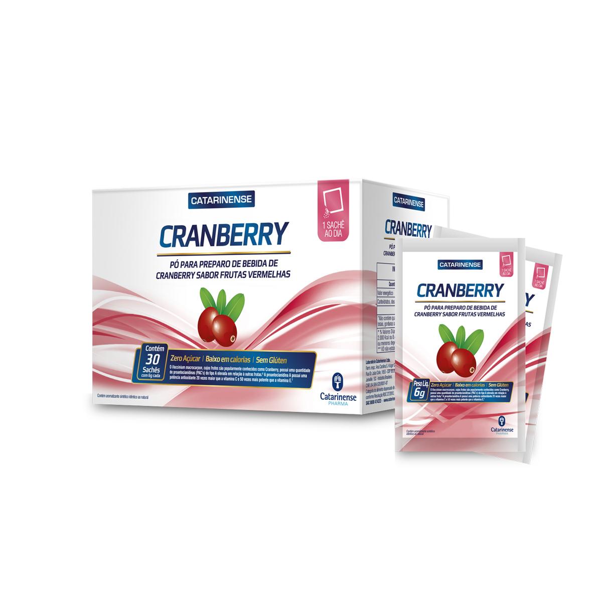 Pó para Preparo de Bebida de Cranberry com 30 Sachês de 6g - Catarinense
