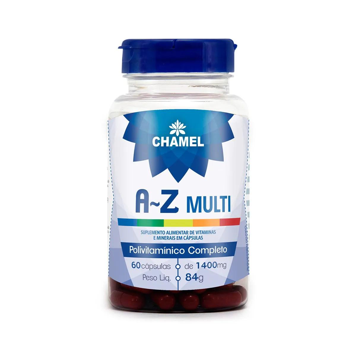 Polivitamínico A a Z 1400mg 60 Cápsulas - Chamel