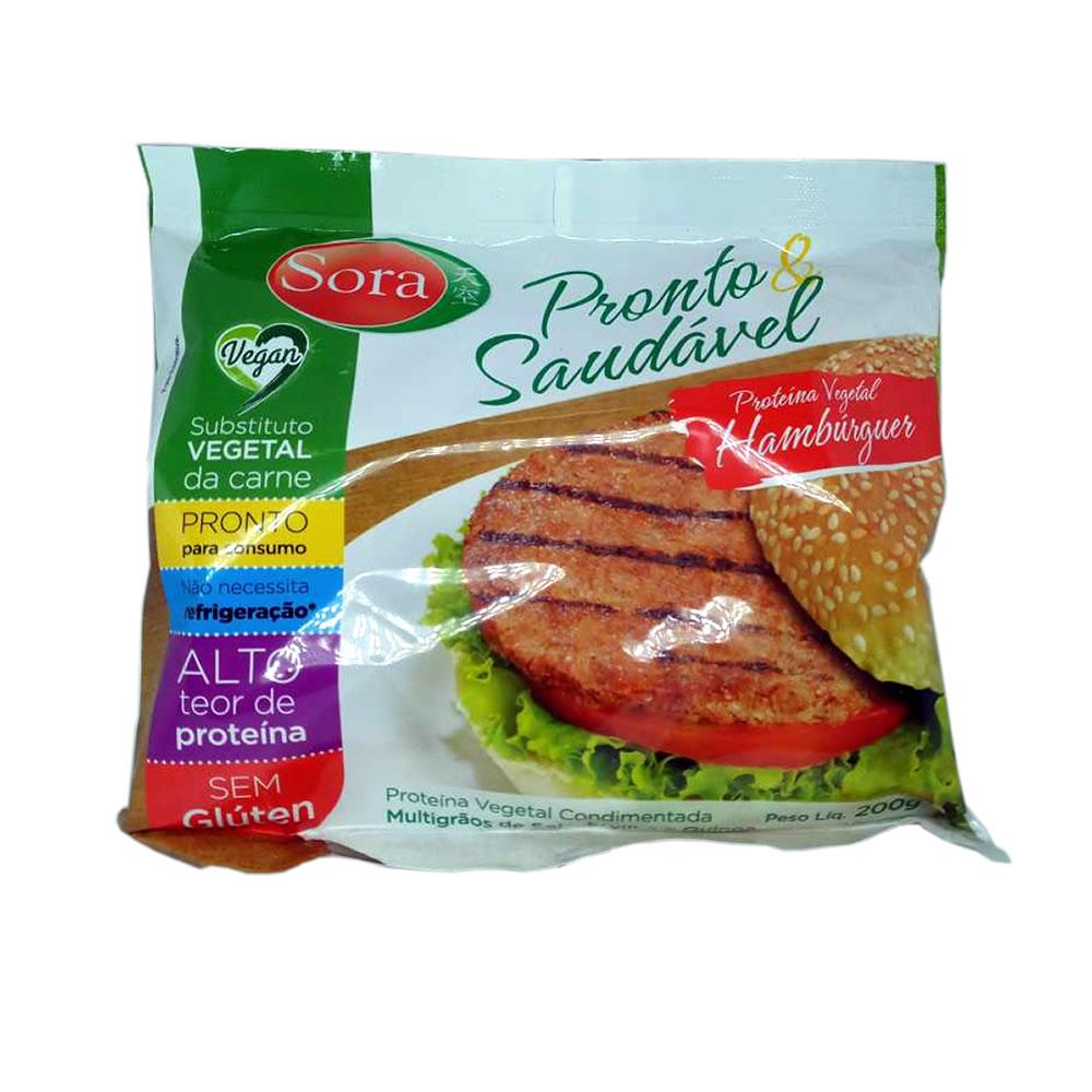 Proteína Vegetal Hamburguer Carne Vermelha 200g - Sora