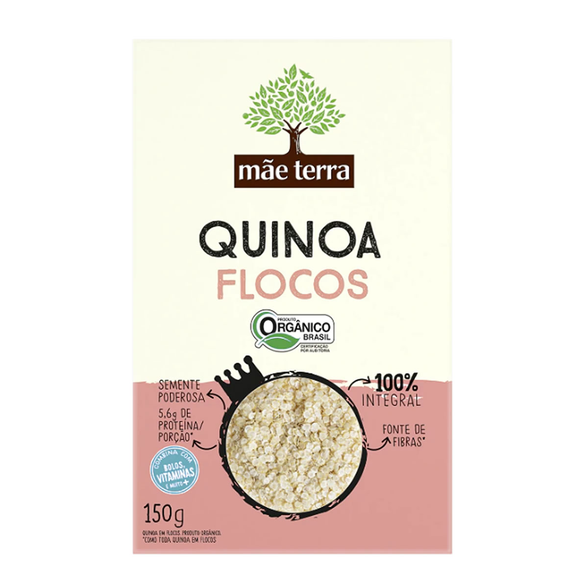 Quinoa em Flocos Orgânico 150g - Mãe Terra