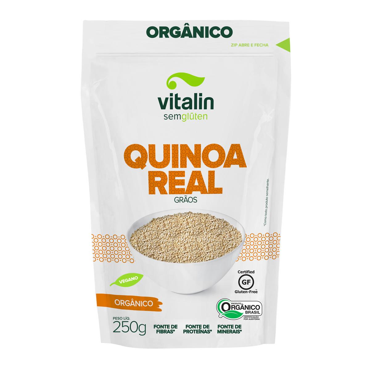 Quinoa Real em Grãos Orgânico 250g - Vitalin