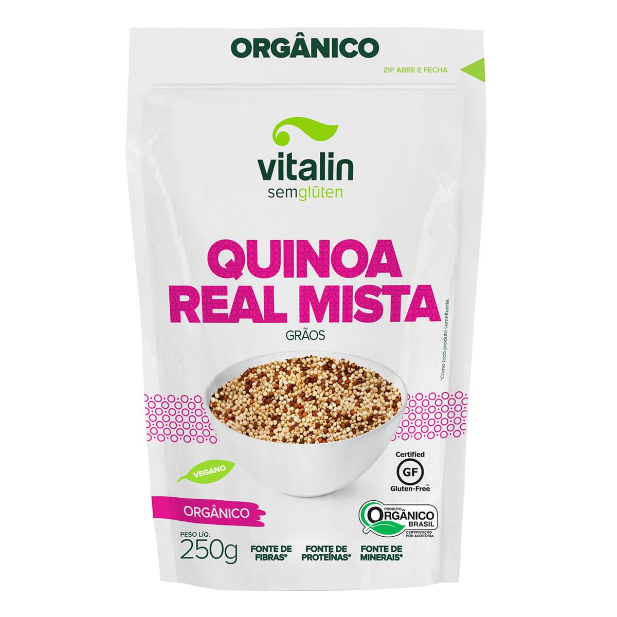 Quinoa Real Mista em Grãos Orgânico 250g - Vitalin
