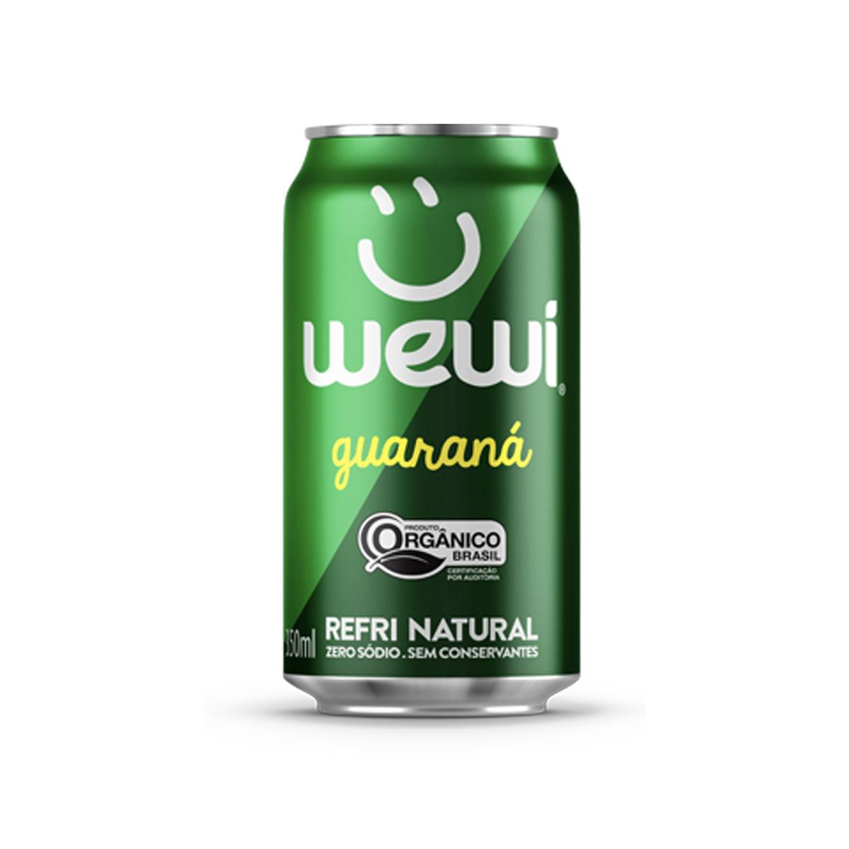 Refrigerante Natural Sabor Guaraná Orgânico Lata 350ml - Wewi