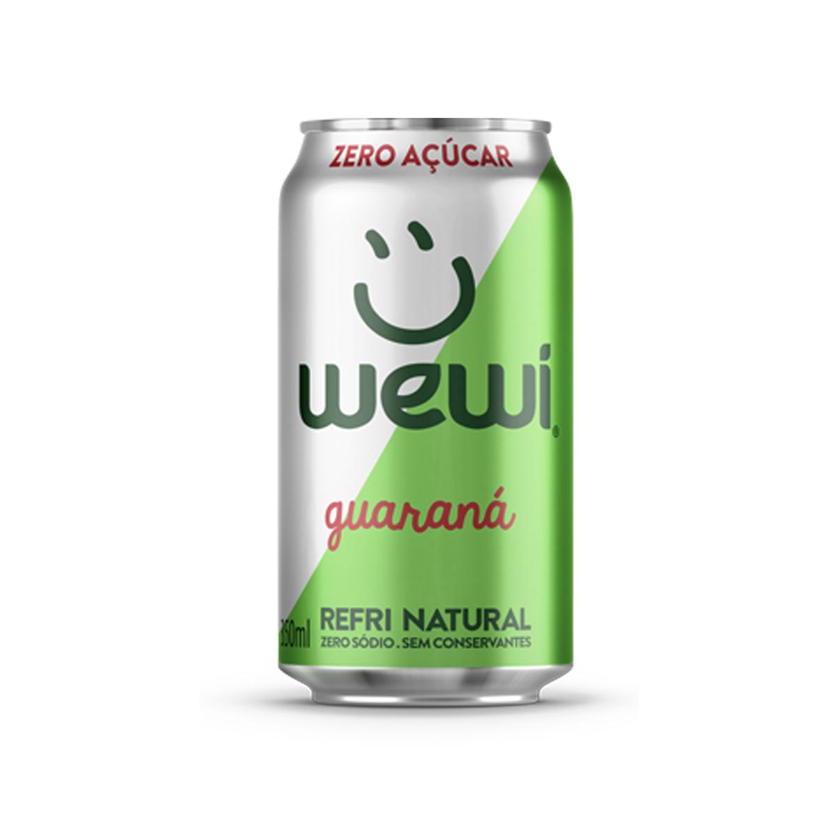 Refrigerante Natural Sabor Guaraná Zero Lata 350ml - Wewi