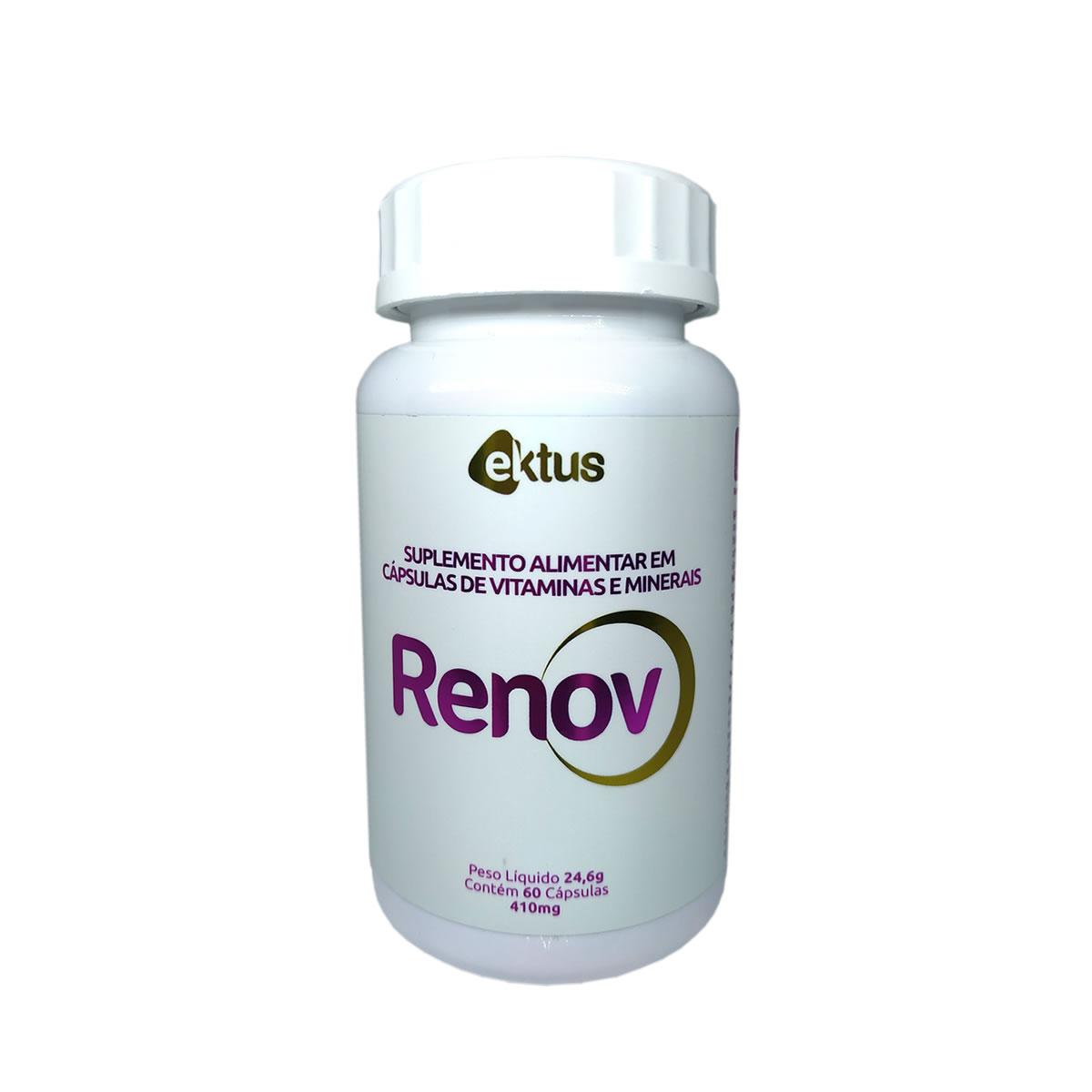 Renov Hair com 500mg de 60 Cápsulas - Ektus
