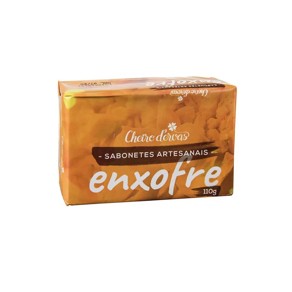 Sabonete Artesanal de Enxofre 110g - Cheiro D'ervas