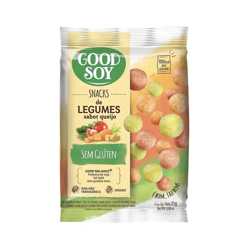 Snack de Legumes Sem Glúten Sabor Legumes ao Queijo 25g - Good Soy