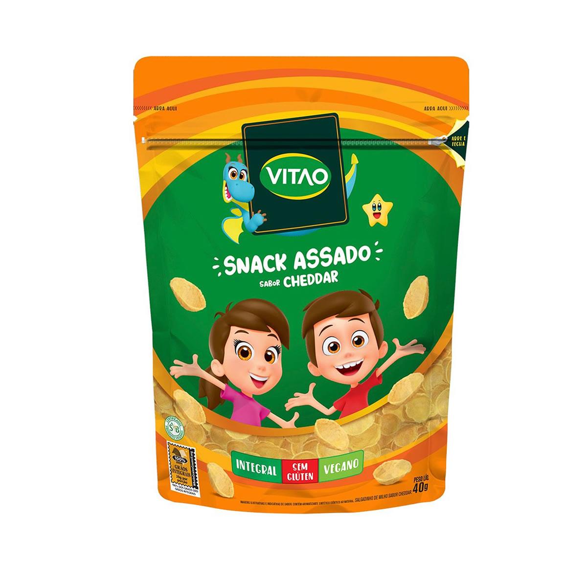 Snack Integral Sabor Cheddar Kids 40g - Vitao