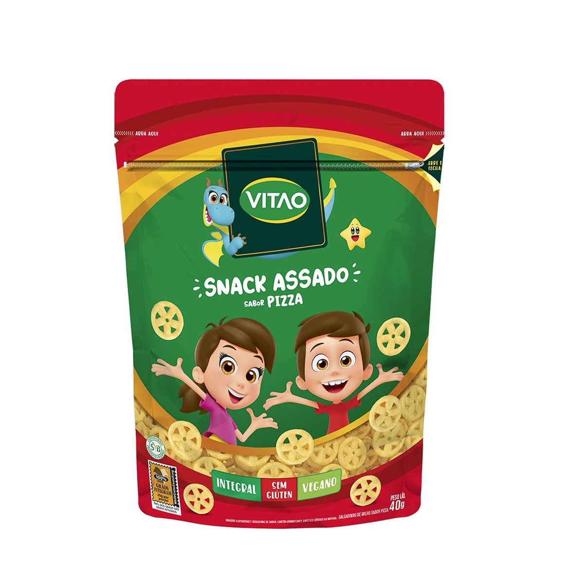 Snack Integral Sabor Pizza Kids 40g - Vitao