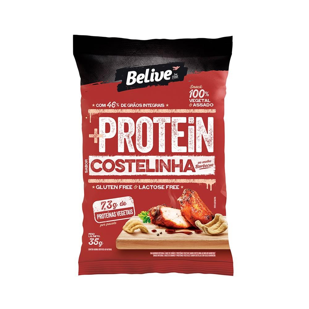 Snack Sem Glúten Protein Costelinha ao Molho Barbecue 35g - Belive