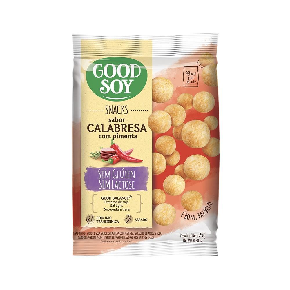Snack Sem Glúten Sabor Calabresa Com Pimenta 25g - Good Soy