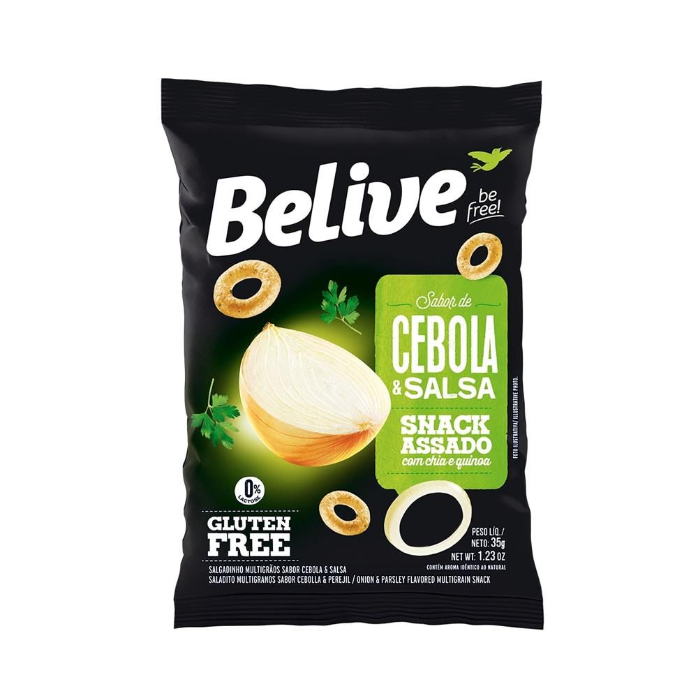 Snack Sem Glúten Sabor Cebola e Salsa 35g - Belive