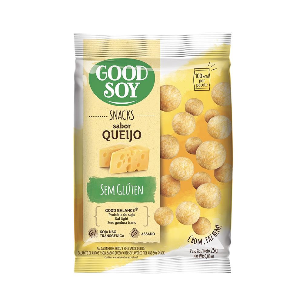 Snack Sem Glúten Sabor Queijo 25g - Good Soy