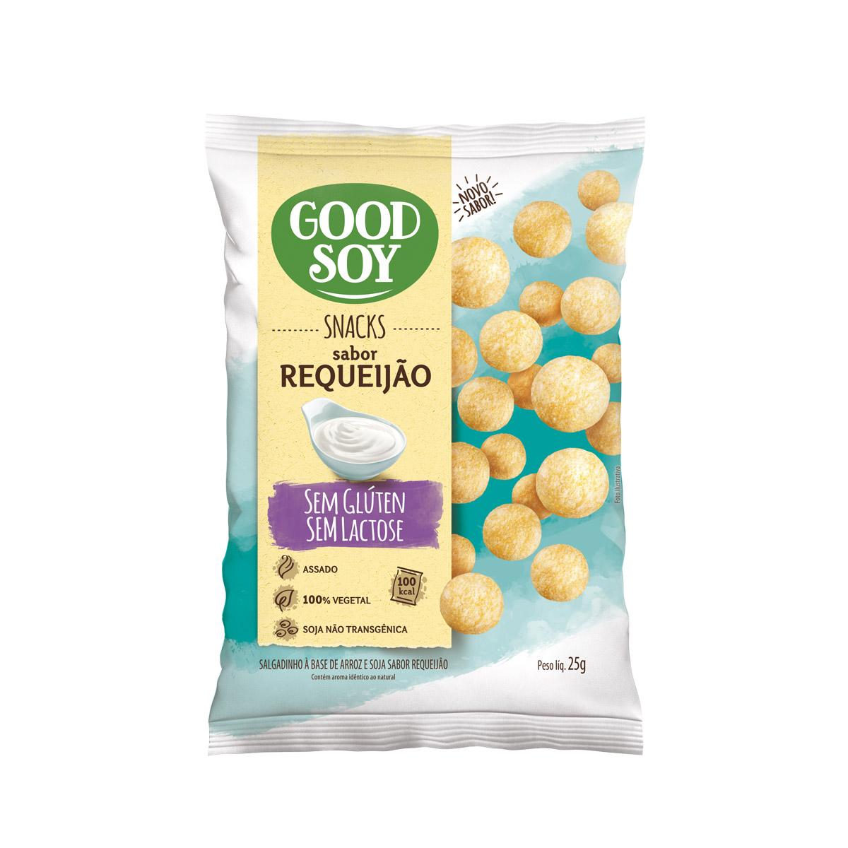 Snack Sem Glúten Sabor Requeijão 25g - Good Soy