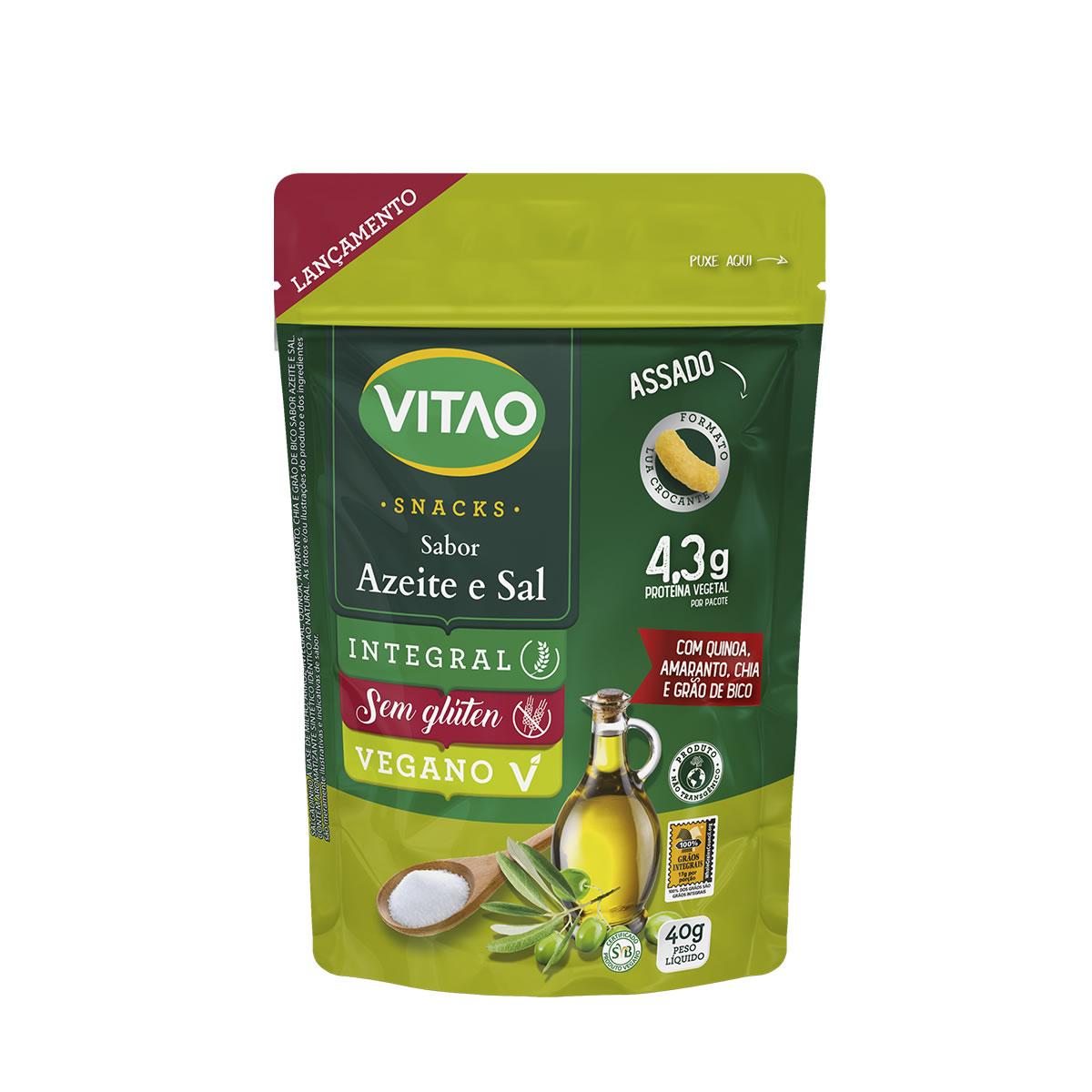 Snacks Integral Sabor Azeite e Sal 40g - Vitao