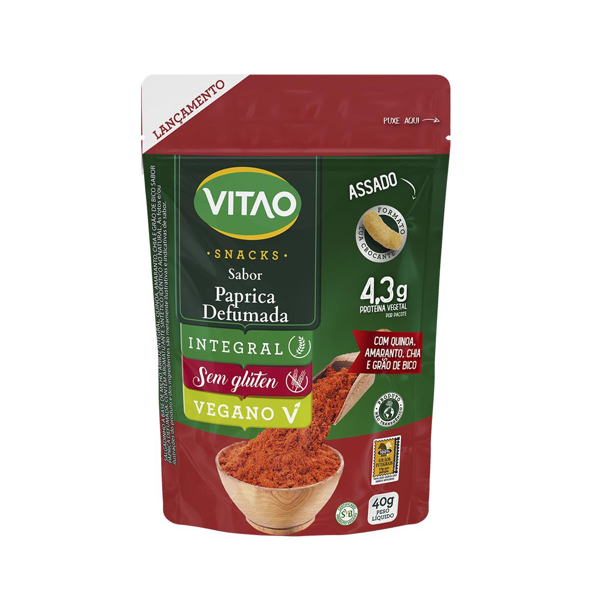 Snacks Integral Sabor Páprica Defumada 40g - Vitao