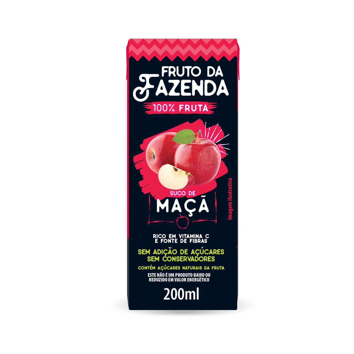 Suco de Maçã 100% fruta 200ml - Super Bom