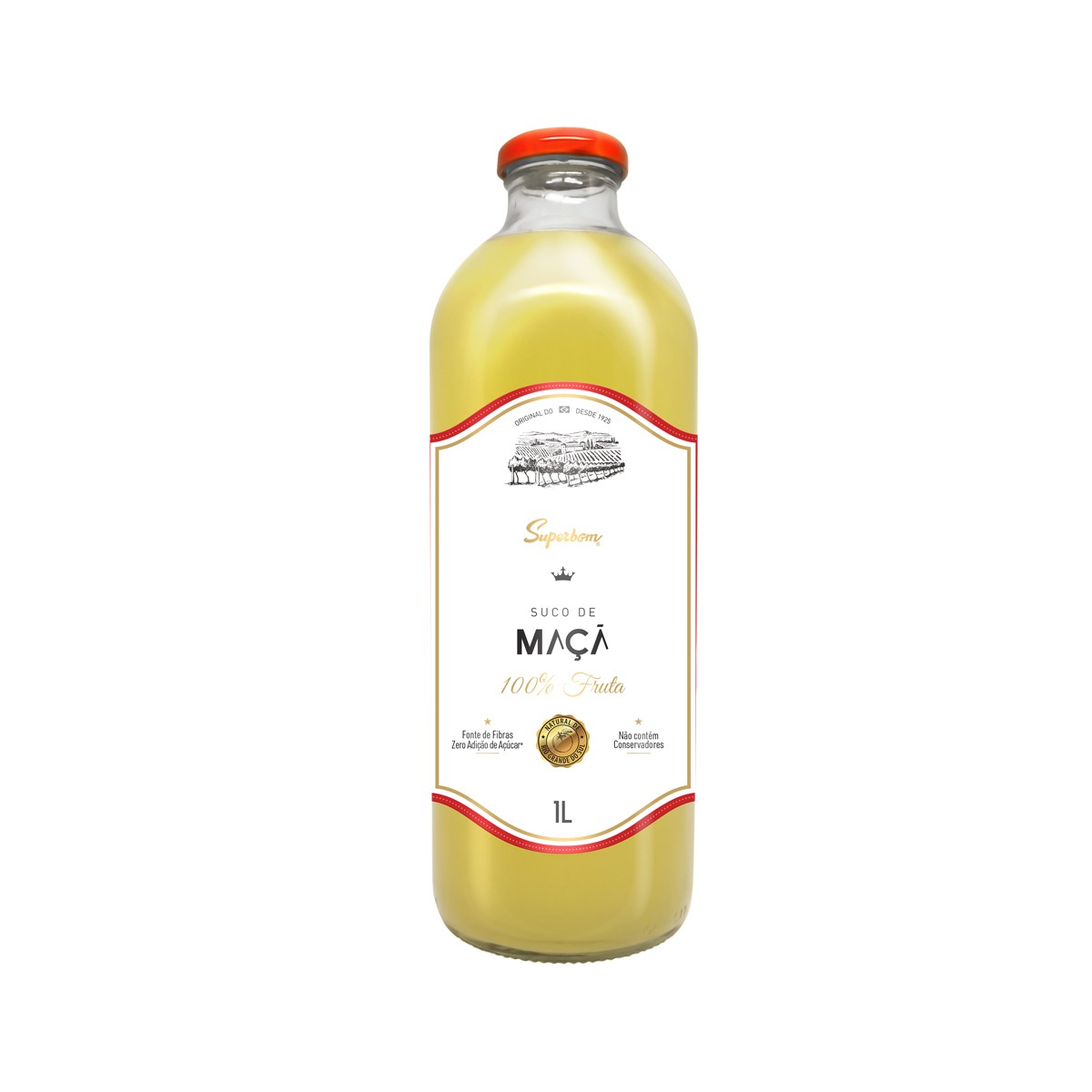 Suco de Maçã Zero 100% fruta 1L - Super Bom