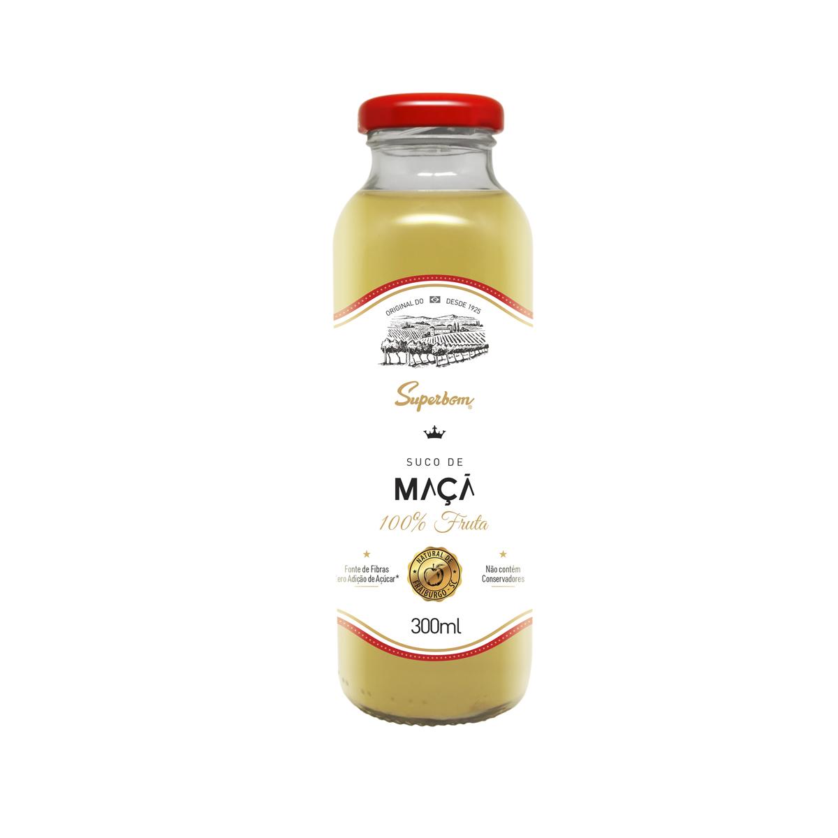 Suco de Maçã Zero 100% Fruta 300ml - Super Bom