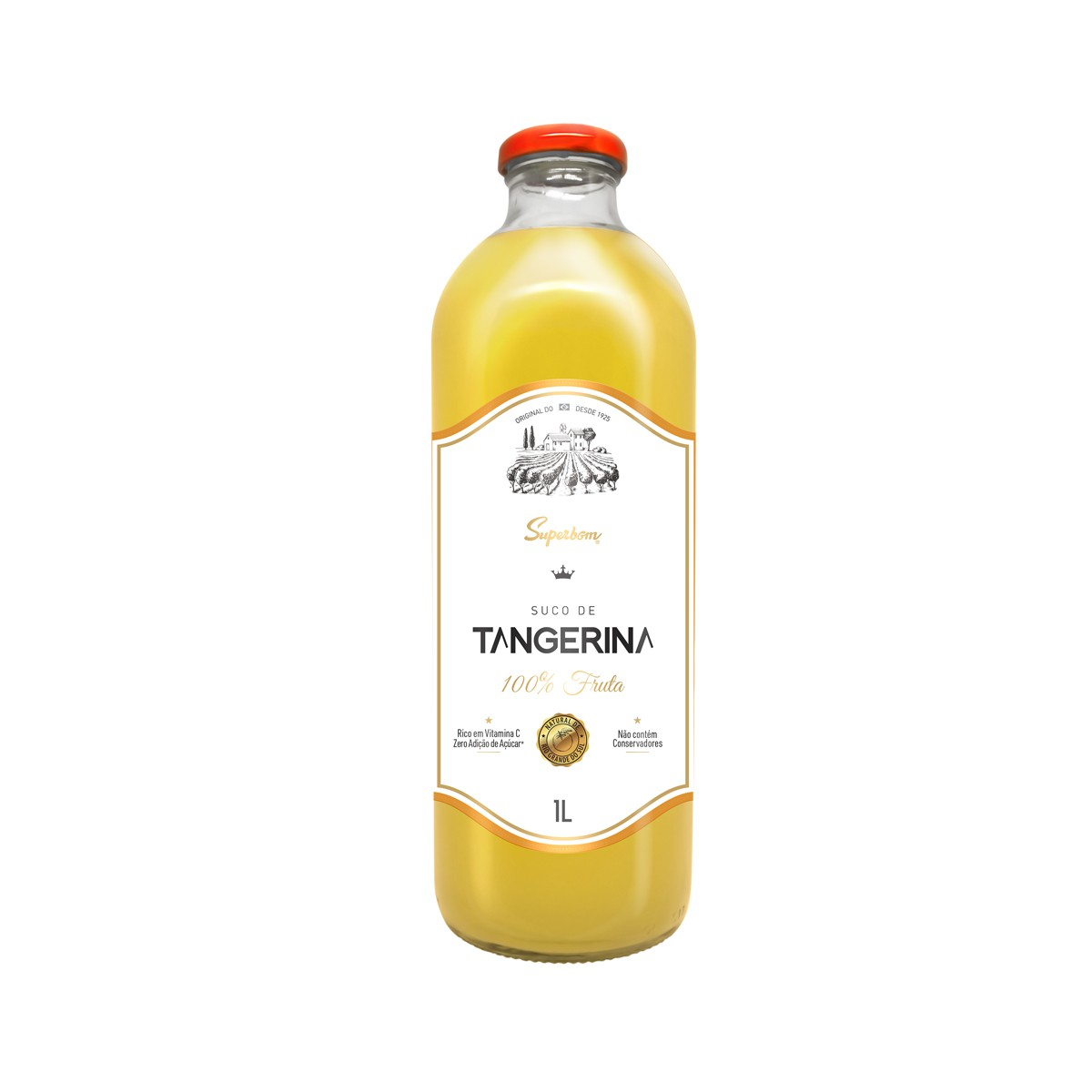 Suco de Tangerina Zero 100% fruta 1L - Super Bom