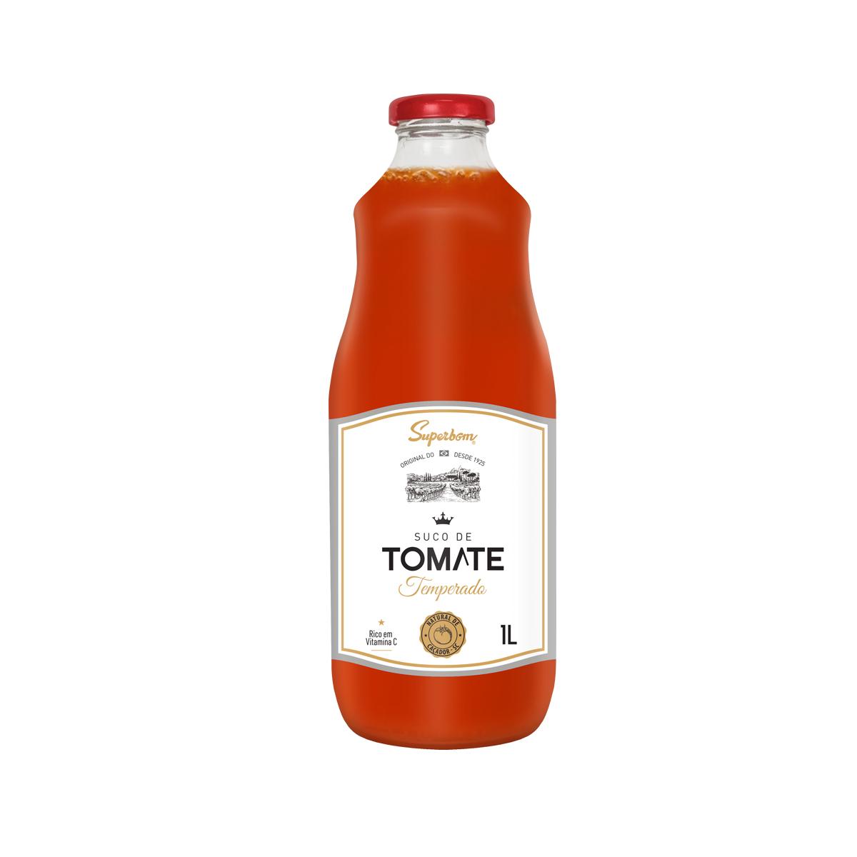 Suco de Tomate Temperado 1L - Super Bom