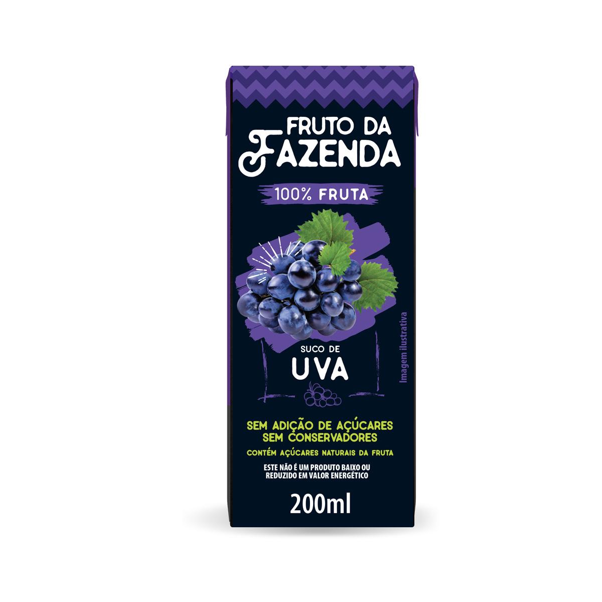 Suco de Uva Zero 100% fruta 200ml - Super Bom