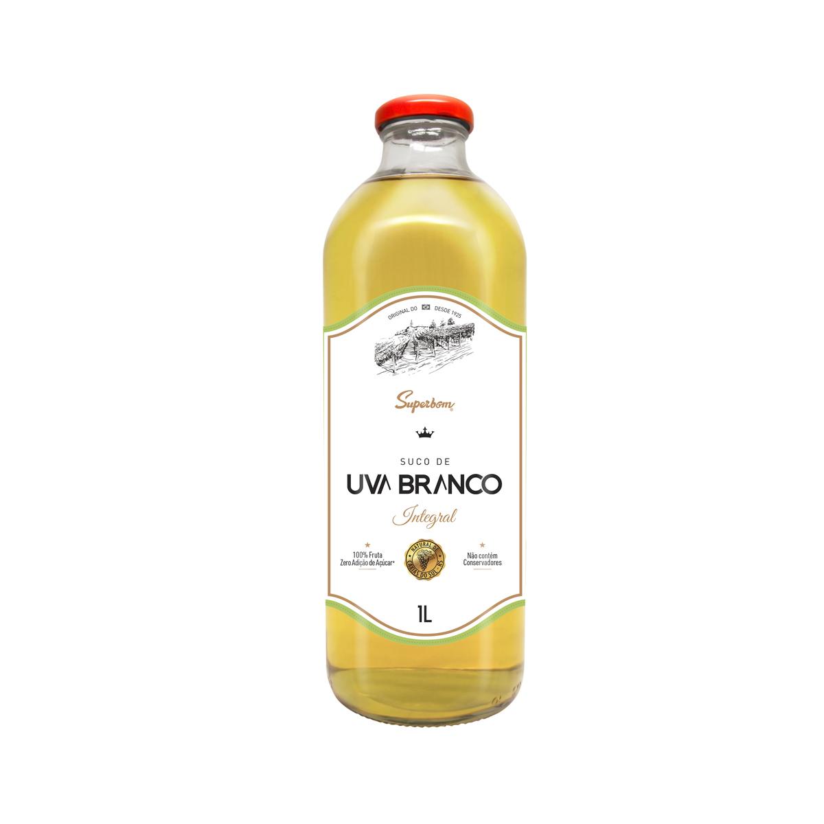Suco Integral de Uva Branco Zero 1L - Super Bom