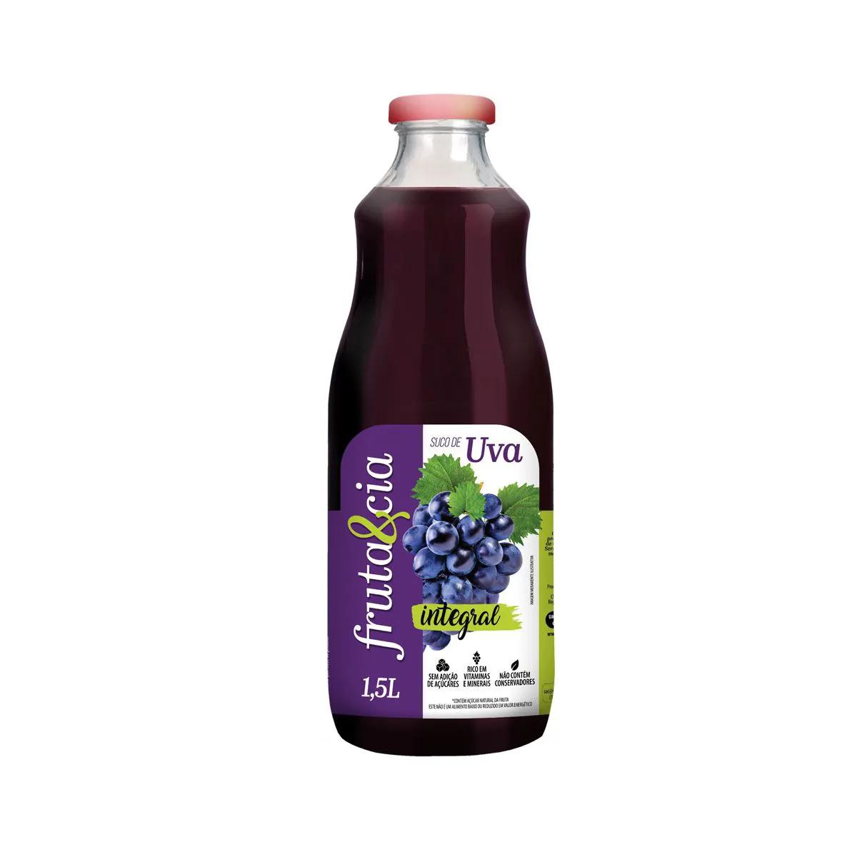 Suco Integral de Uva Zero Fruta e Cia 1,5L - Super Bom