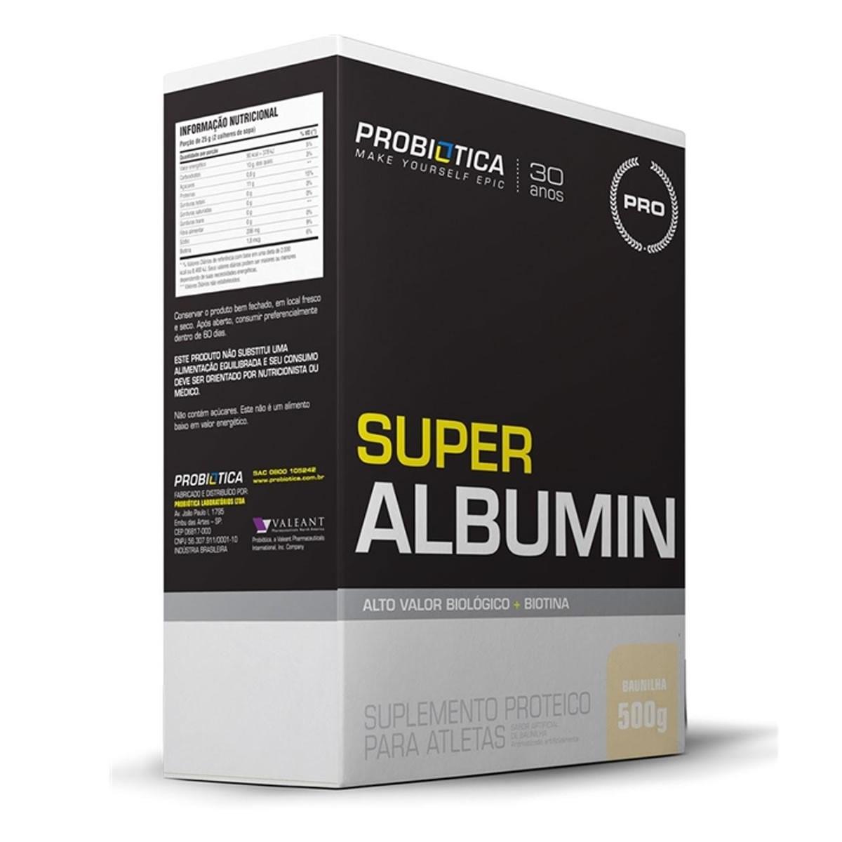 Super Albumina Sabor Baunilha 500g - Probiotica