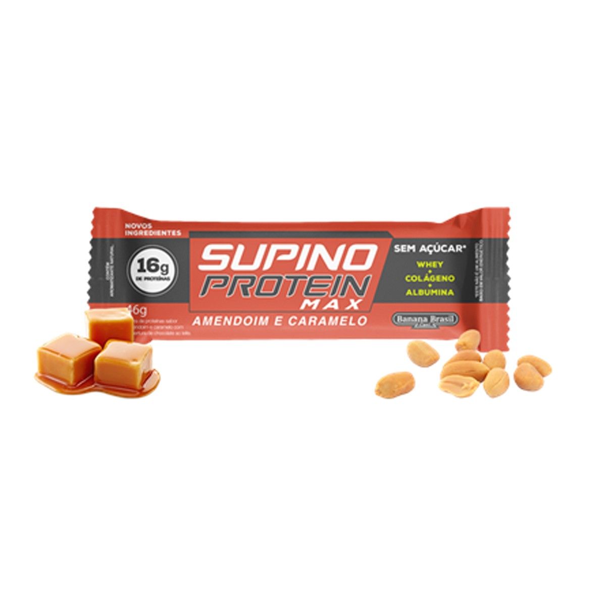 Supino Protein sabor Amendoim e Caramelo 46g - Banana Brasil