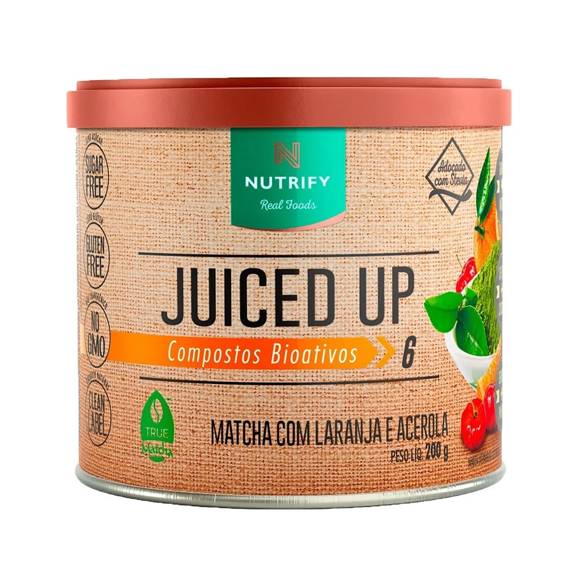 Suplemento Alimentar Juiced UP sabor Laranja e Acerola 200g - Nutrify