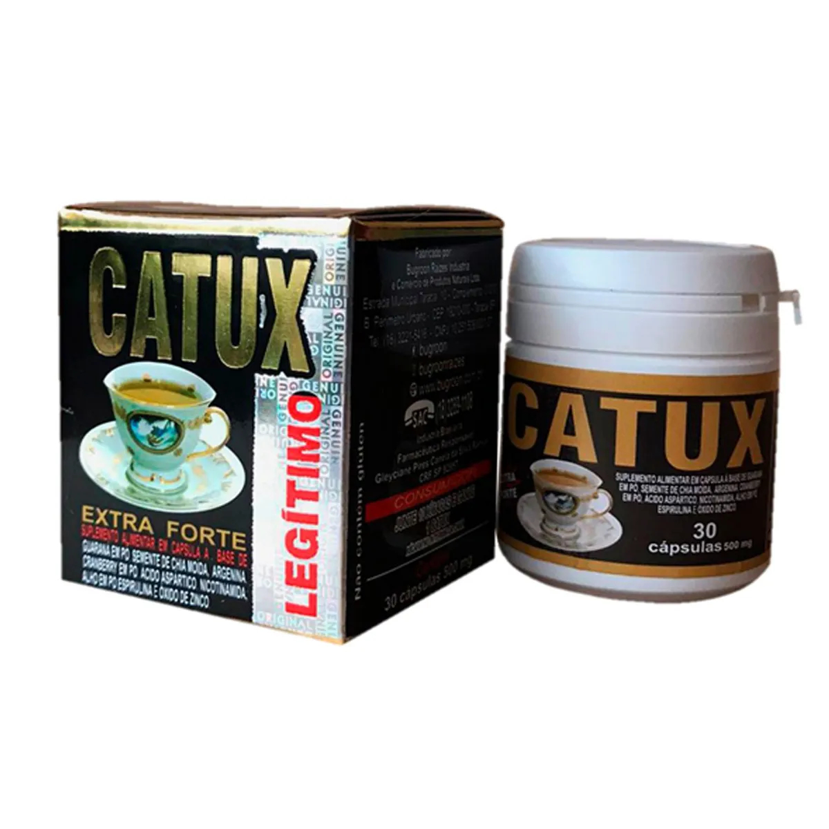 Suplemento Catux Extra Forte 500mg 30 cápsulas - Bugroon