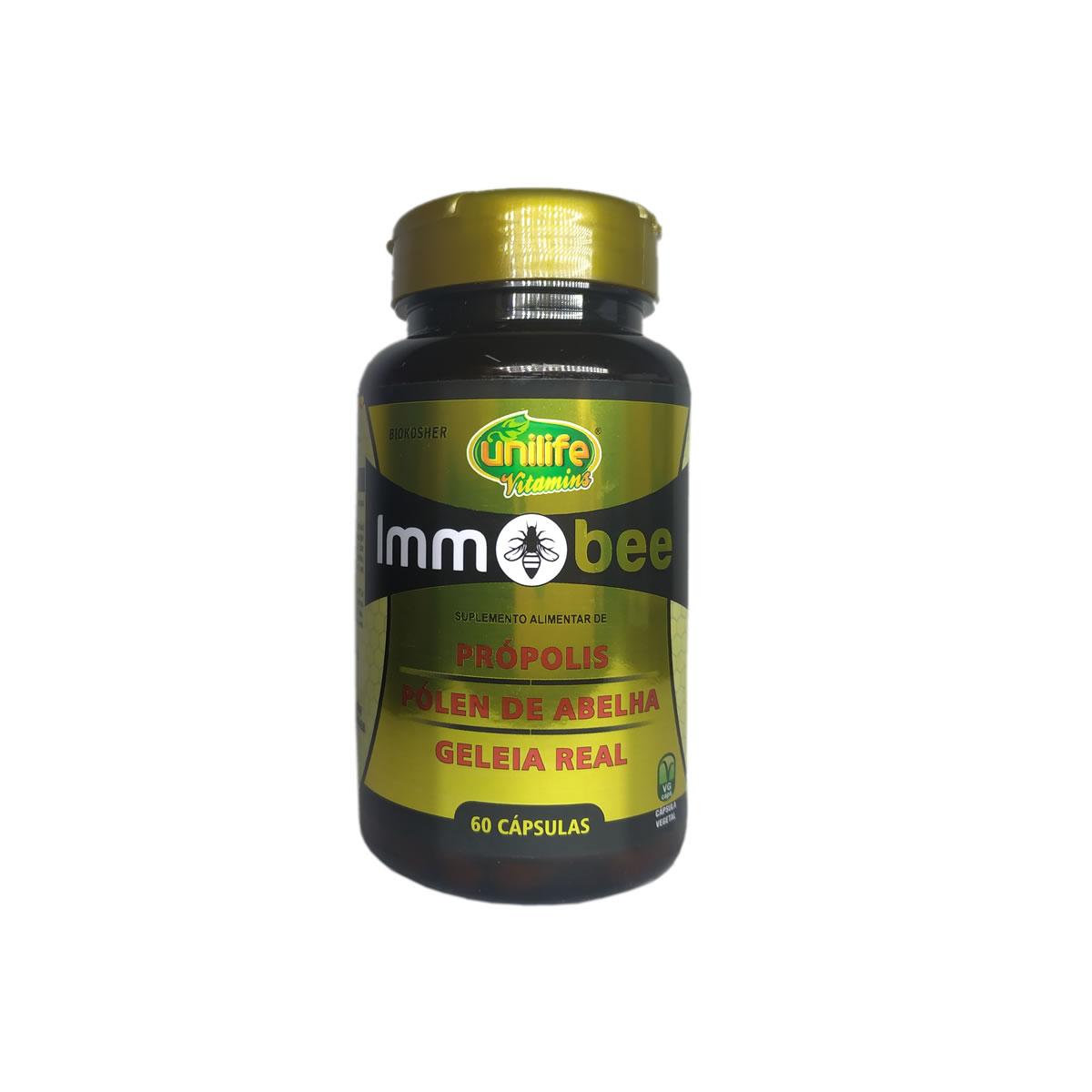 Suplemento de Própolis, Pólen e Geleia Real Immobee 550mg 60 capsulas - Unilife