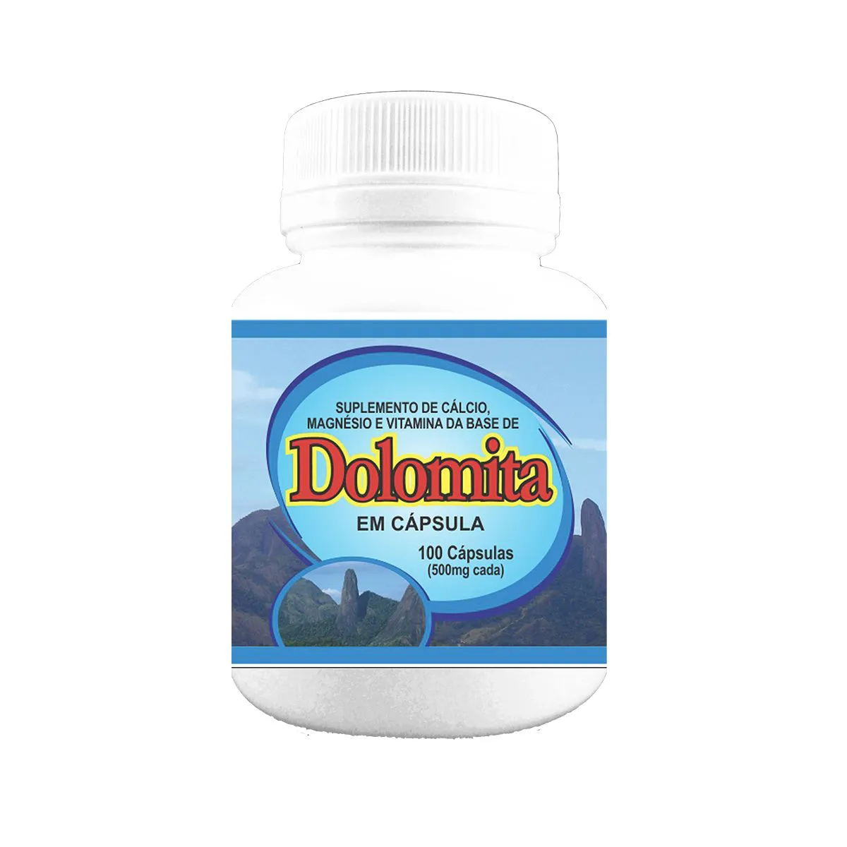 Suplemento Dolomita 500mg 100 cápsulas - Poly Flora
