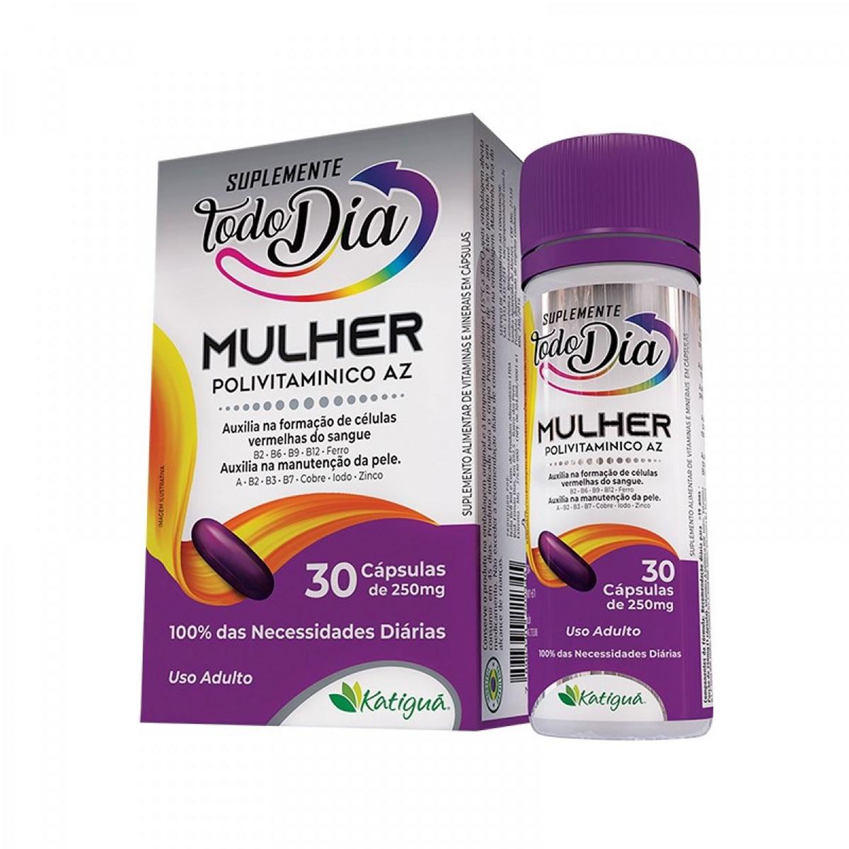 Suplemento Mulher A a Z 250mg 30 cápsulas - Katiguá